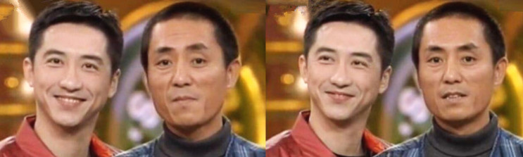 张艺谋和庾澄庆23年前合影照曝光,那时的两人都如此青涩!